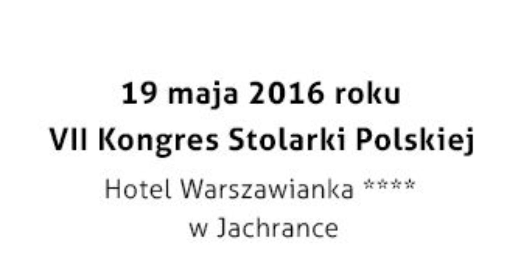Kongres Stolarki Polskiej już 19 maja