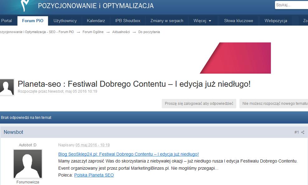 forum pio