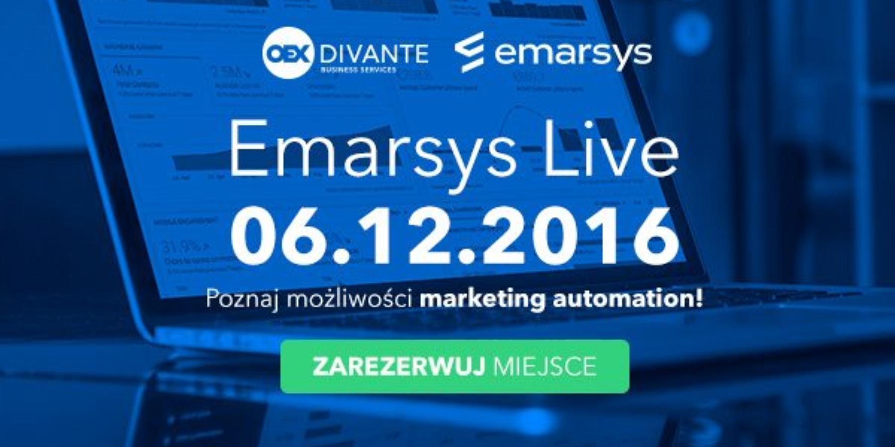 Emarsys Live Warsaw – zarejestruj się już dziś!