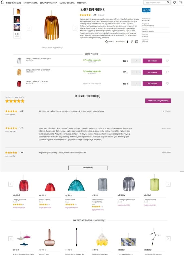 d064ec47bb65 przykład zoptymalizowanej karty produktu. Źródło  sklep internetowy  fabrykaform.pl