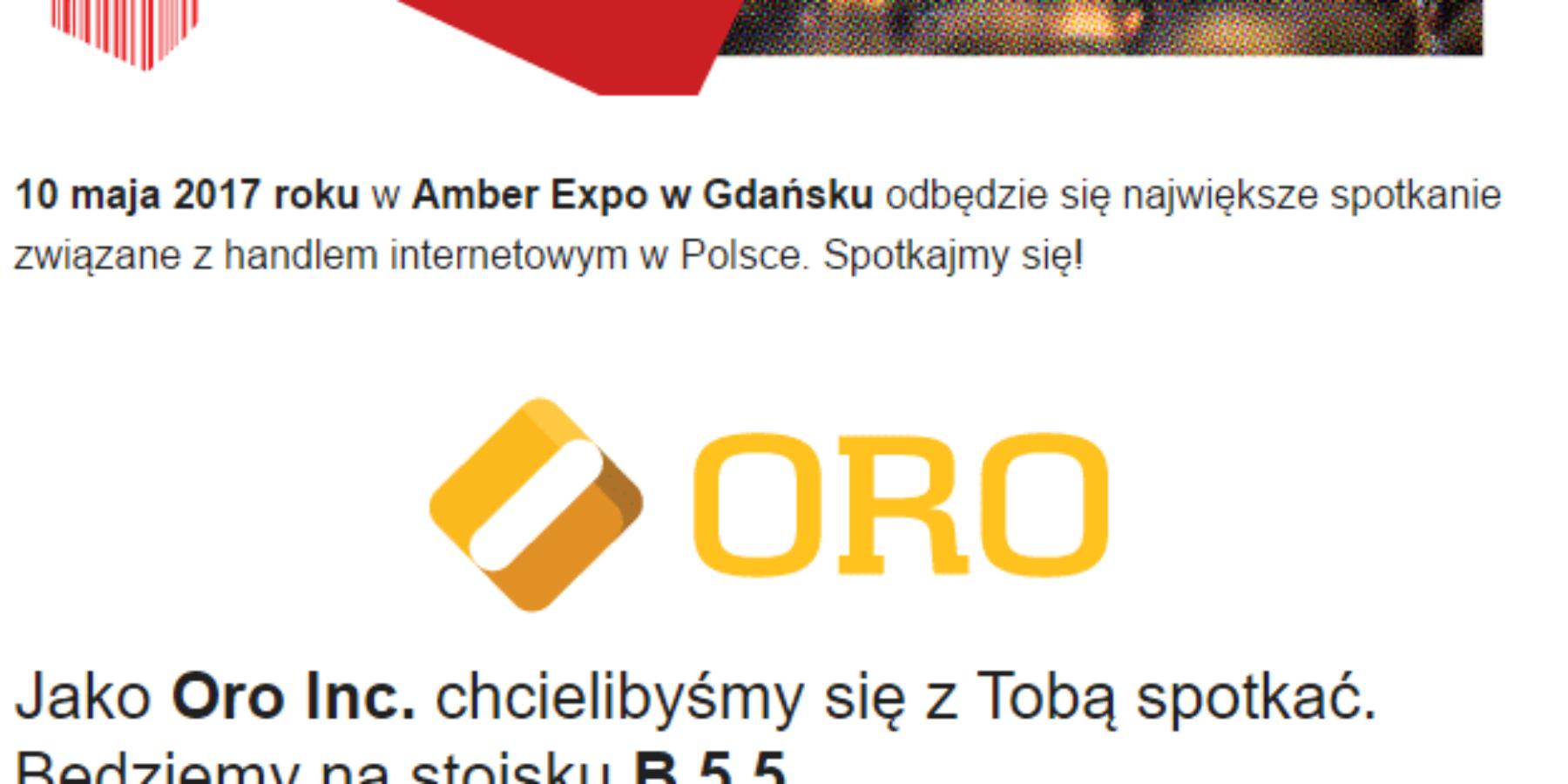Oro Poland naTargach handlu elektronicznego