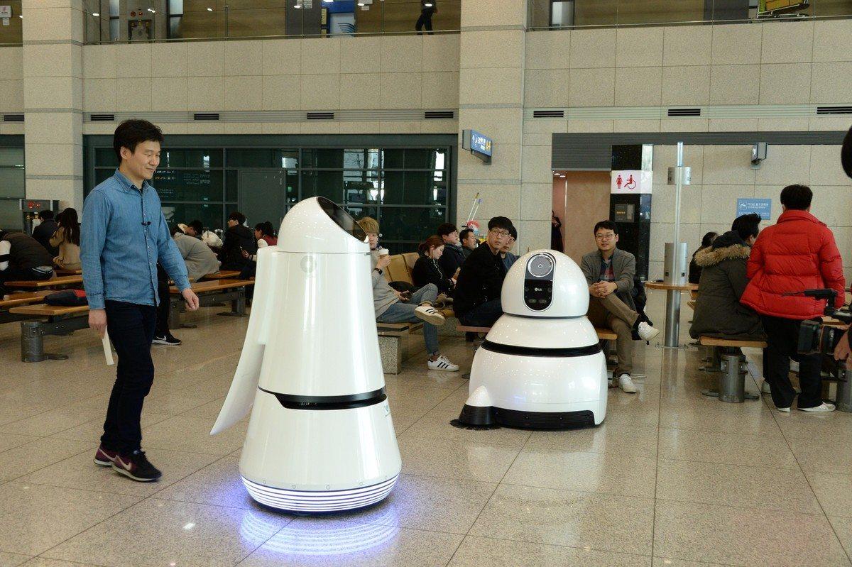 Roboty LG nanajwiększym lotnisku wKorei Południowej