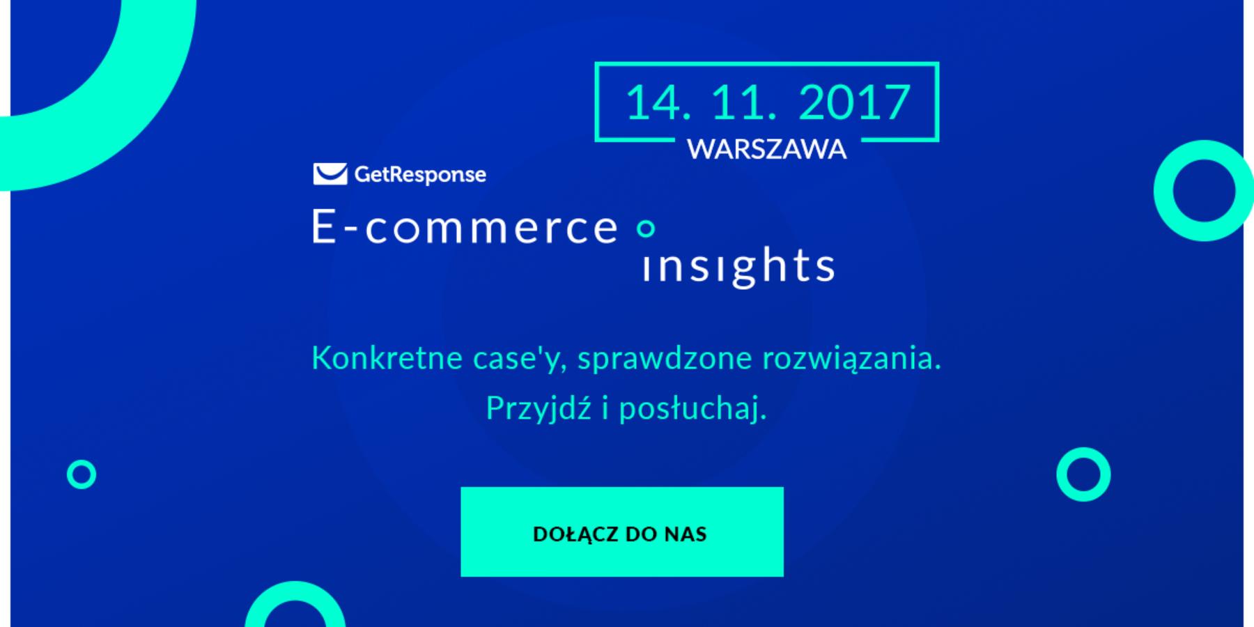 E-commerce Insights iResponseCon – GetResponse ogłasza serię konferencji  wPolsce iUSA