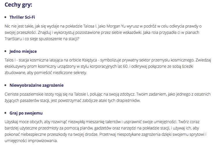 opisy produktów