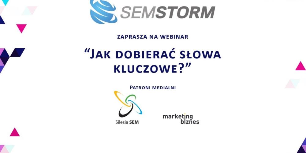 """Szkolenie online SEMSTORM """"Jak dobierać słowa kluczowe"""""""