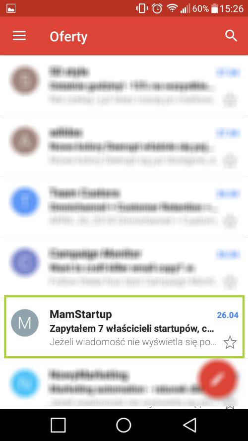 dopasowanie mailingu domobile