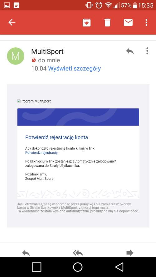 przykład mailingu