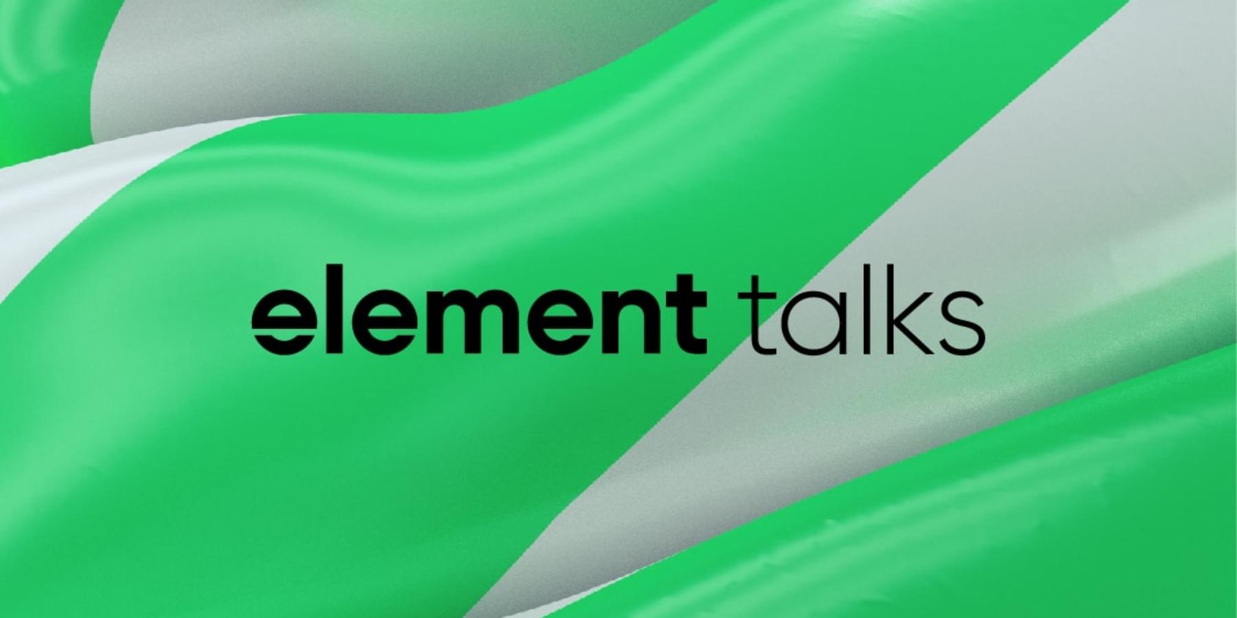 Designers, just breathe! Piąta edycja Element Talks tego lata wWarszawie!